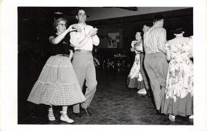 Marysville Kansas~Moose Lodge Square Dance~Interior~Couple~Naomi Gross~1955 RPPC