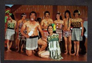 NZ Maori Cultural Center Theatre Rotorua New Zealand Postcard