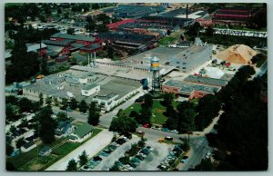 Quincy IL Watertower & Livestock Mineral Feeds~Aerial View of Moorman's 1950s PC