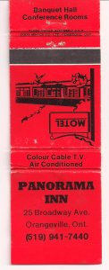 Matchbook Cover ! Panorama Inn, Orangeville, Ontario, Canada !