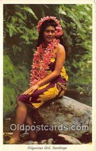 Glamour Woman Polynesian Girl Raratanga Unused