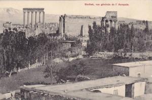 Vue Generale De l'Acropole, Baalbek, Lebanon, 1900-1910s