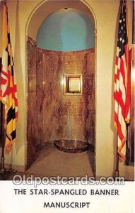 Star Spangled Banner Baltimore, Maryland Patriotic Unused