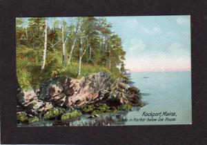 ME Harbor Ice House ROCKPORT MAINE Postcard