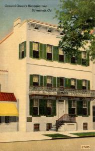 GA - Savannah. General Green's Headquarters