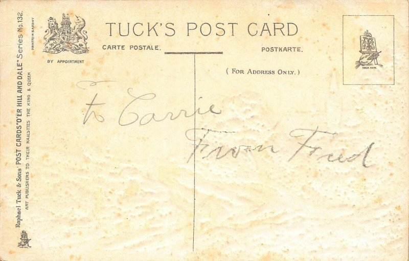 O'ER HILL AND DALE-TUCK SERIES 132 EMBOSSED POSTCARD