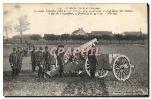 Old Postcard Campaign Army Artillery cannon The Rimailho