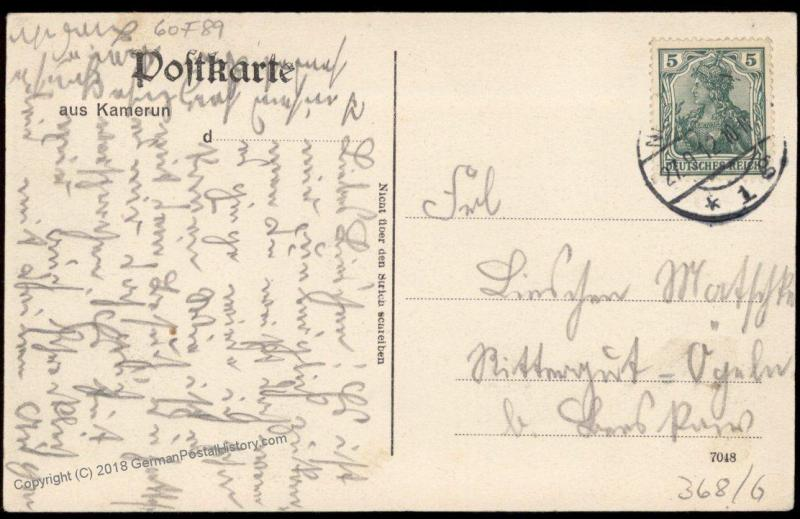 Germany 1912 Kamerun Isongo Storehouses on the Ocean Postcard PPC 85093