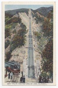 Mount Lowe CA Railway RR Great Incline Electric Trolley Vintage Postcard