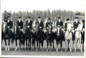 Horse Sports Group Picture Send to Dutch Magazine Dordrecht RPPC 03.05