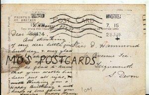 Genealogy Postcard - Hammond - 6 Avenue Terrace - Teignmouth - S Devon  Ref 510B