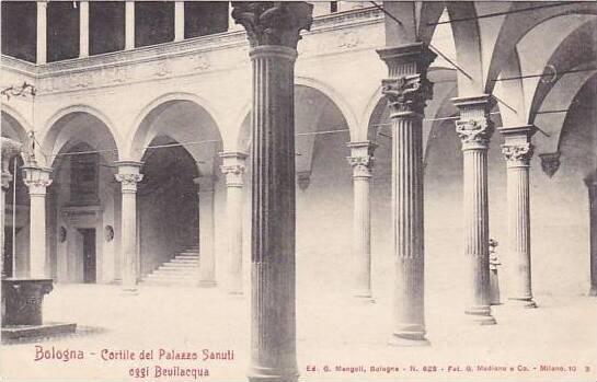 Italy Bologna Cortile del Palazzo Sanuti oggi Bevilacqua