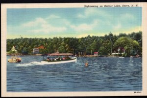 New Hampshire DERRY Sightseeing on Beaver Lake - pm1954 - LINEN