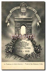 Old Postcard Paris Tomb of the Unknown Soldier