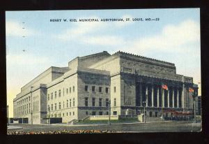 St Louis, Missouri/MO  Postcard, Kiel Municipal Auditorium