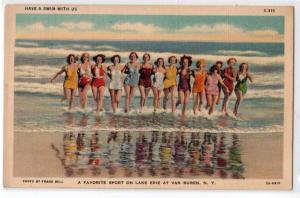 Swimming, Lake Erie, Van Buren NY