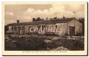Old Postcard the shack Clemenceau