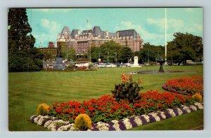 Victoria BC-British Columbia Canada, Empress Hotel, Chrome Postcard