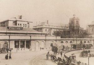 St Bartholomews Hospital in 1888 Victorian London Postcard