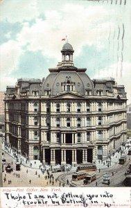 Post Office, Manhattan, New York City, 1898 Postcard used in 1908