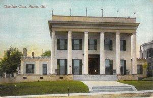 Cherokee Club Macon GA Georgia Unused Divided Back Postcard