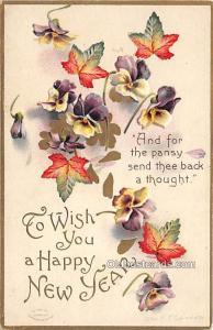 New Year, Ellen H Clapsaddle, Series 2462 Unused