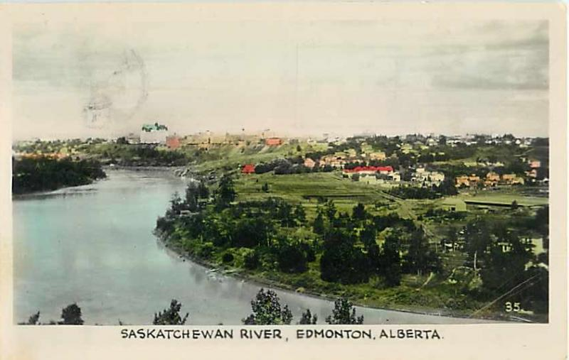 Saskatchewan River Edmonton Alberta 1941 White Border