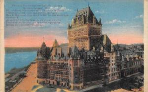 764 Quebec 1930's  Chateau Frontenac and Dufferin Terrace