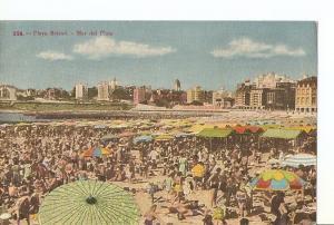 Postal 037311 : Playa Bristol - Mar de plata. Republica de Argentina