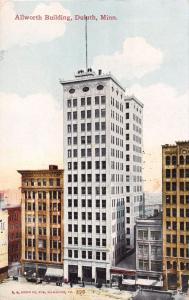 DULUTH MINNESOTA ALLWORTH (sp) ALWORTH BUILDING~STILL TALLEST POSTCARD 1910