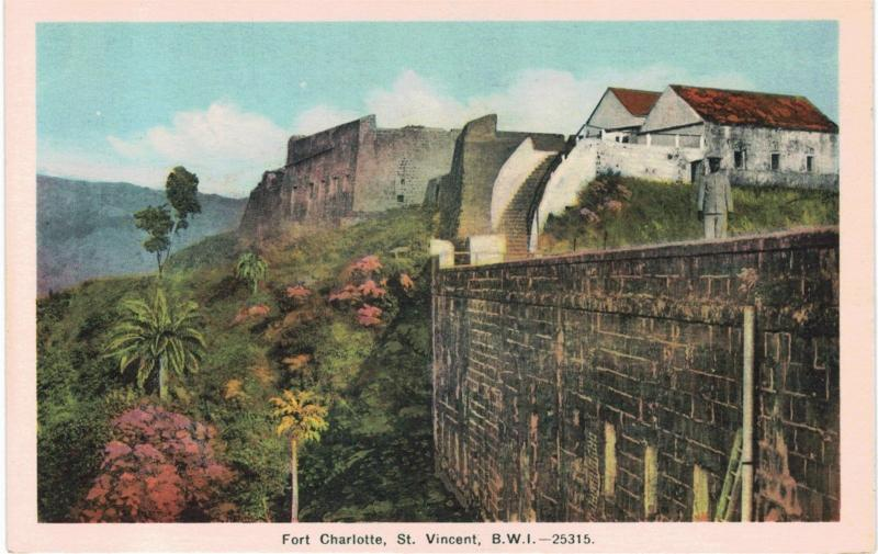St Vincent Fort Charlotte British West Indies 1930 Unused BWI