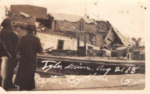 Tyler MN~Ladies Look Thru Door of Wrecked Home~August 21 Tornado~1918 RPPC