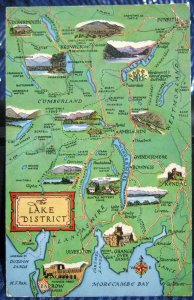 England Map Lake District - posted 1972