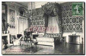 Old Postcard Chateau de Compiegne Bedroom Marie Antoinette