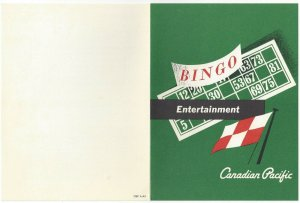 CANADIAN PACIFIC, Empress of Canada, Bi-fold, Programme, 9/21/1968