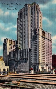 Illinois Chicago Civic Opera Building 1948