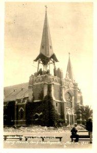 CA - Long Beach Earthquake, Mar. 10, 1933. St Anthony's Catholic. *RPPC
