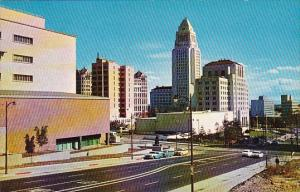 California Los Angeles The Civic Center Showing The New Los Angeles County Co...