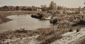Postcard Golden Sands Galien River New Buffalo Michigan Unposted 15