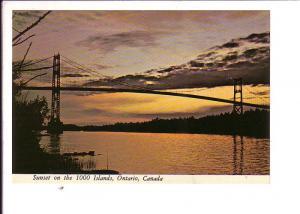 Sunset, Bridge  Thousand Islands, Ontario, Canada