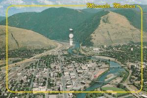 Bird's Eye View of Missoula MT, Montana - pm 1991
