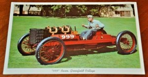 Postcard 1952 Barney Oldfield 999 Racer Henry Ford Greenfield Dearborn Michigan