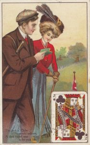 Playing Cards ; Jack O'Clubs , 1910