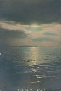 RPPC Midnight Calm - Moonlight over Lake - Mailed at Rochester NY - pm 1920