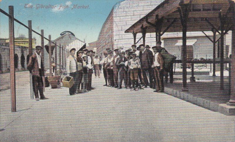 GIBRALTAR , PU-1912 : Fish Market