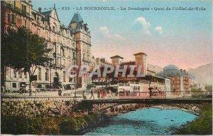 Old Postcard La Bourboule The Dordogne Quai de l'Hotel de Ville