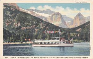 Launch International On Waterton Lake, Waterton Lakes National Park, ALBERT...