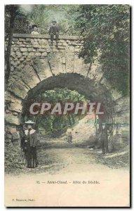 Old Postcard Saint Cloud Allee Devil