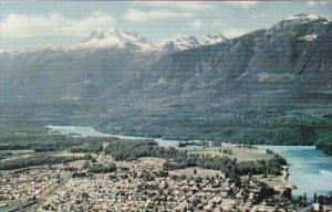 Canada Aerial View Revelstoke British Columbia