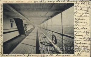 Promenade Deck, Holland - America Line Postcard Postcards  Promenade Deck